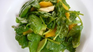 Mango, Avocado and Herbed Baby Spinach Salad