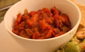 Sweet Potato and Kidney Bean Chili