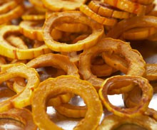 Maple-Cinnamon Squash Ringlets