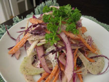 Fennel, Cabbage and Carrot Slaw