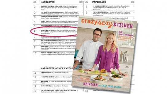 Crazy Sexy Kitchen is a New York Times Best Seller!
