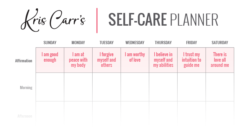 My crazy sexy self care planner for Self care plan template