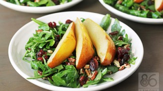 Roasted Pear & Arugula Salad