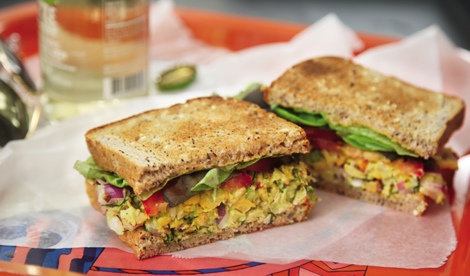 thug kitchen green smoothie smoked almond amp chickpea salad sammies 6110