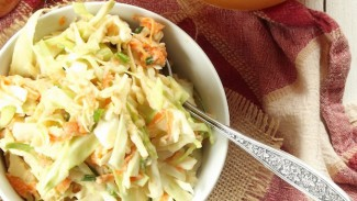 Apple Cider Tahini Slaw