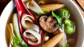 Wild Mushroom, Ginger and Minted Brussels Pho Show