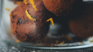 Cacao Butter Truffles with Orange & Ginger