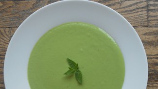 Chilled Fava Bean Soup with Mint and Dill