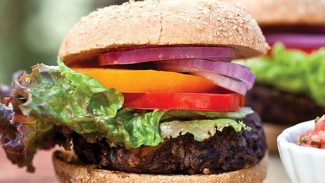 Black Bean and Roasted Sweet Potato Burger