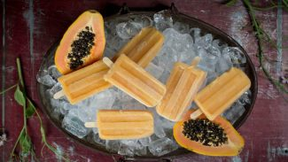Papaya, Coconut and Citrus Popsicles