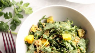 Mango, Wheat Berry and Arugula Salad With Creamy Cilantro Lime Dressing