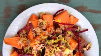 Sweet Potato and Quinoa Bowl With Walnuts