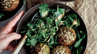 Freedom Falafel With Lemon Pepper Spinach Salad