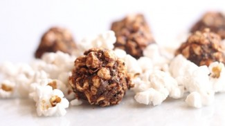 Salted Chocolate Chia Popcorn Balls