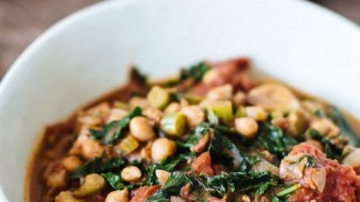 Spiced Chickpea & Kale Stem Stew