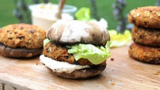 Cheesy Red Lentil Burgers