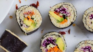 Vegetable Cauliflower Rice + Quinoa Sushi