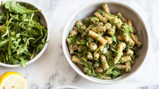 Chickpea Pesto Pasta Salad