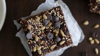 Almond Butter Chocolate Oat & Seed Squares