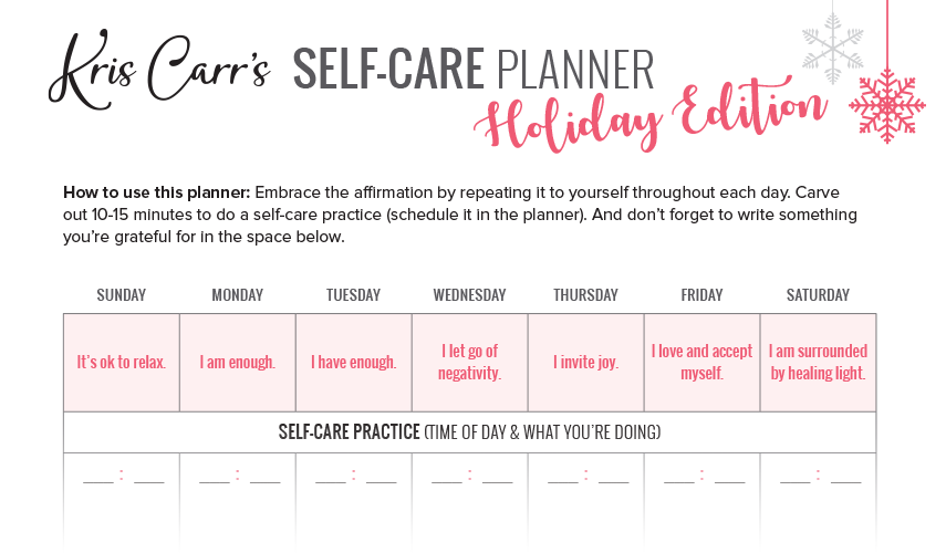 How to Stress Less This Winter (Holiday Planner Included!)