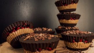 Peanut Butter Pomegranate Cups
