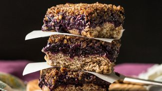 Blissful Blueberry-Chia Streusel Bars