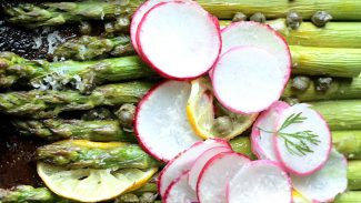 Lemon Capers Roasted Asparagus