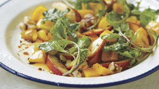 Magical Peach Arugula Salad