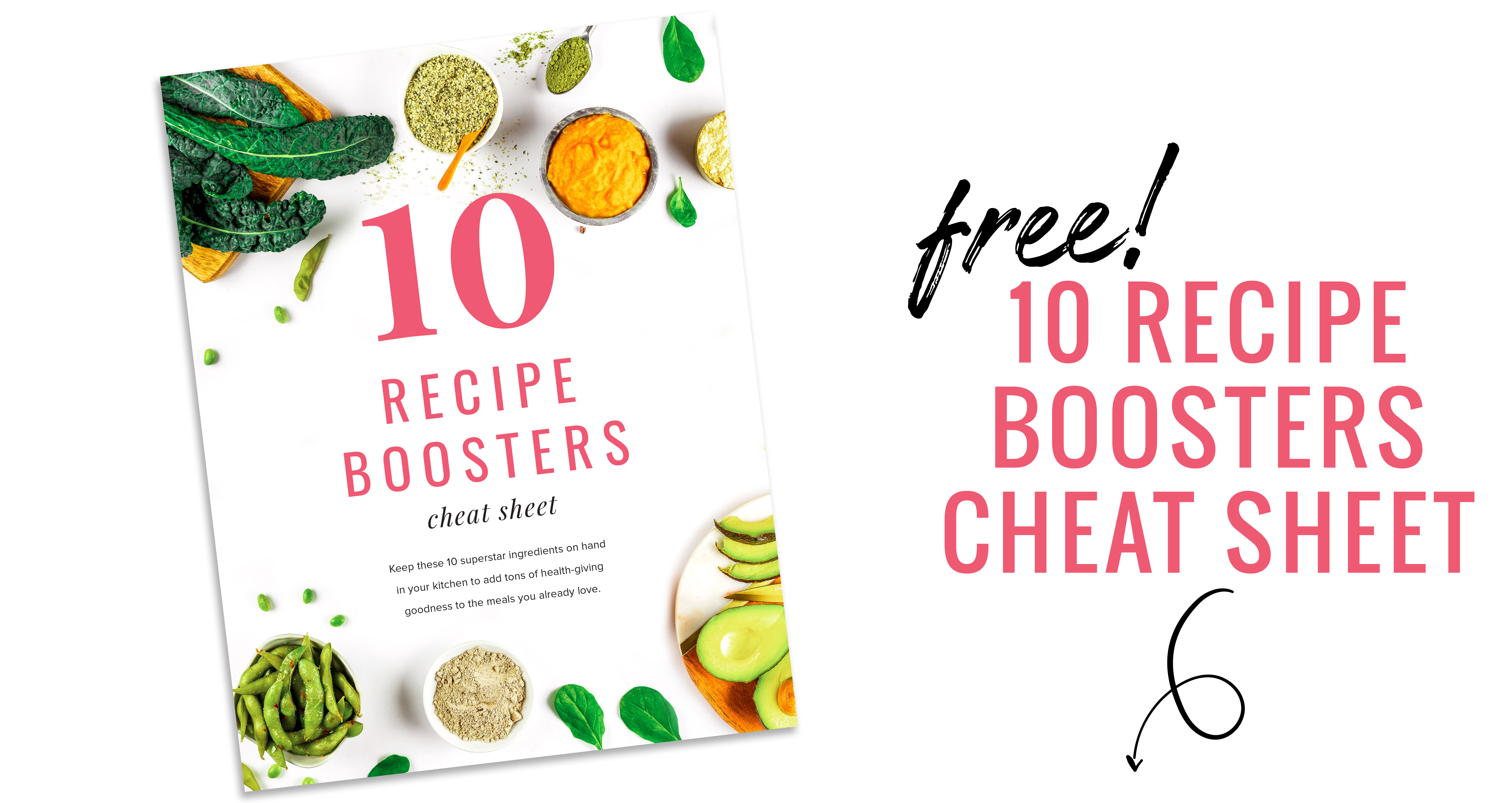 10 Recipe Boosters Cheat Sheet