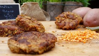 Healthy Indian Potato & Lentil Cakes