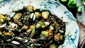 Caramelized Brussels Sprouts & Lentil Salad