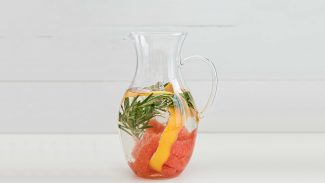 Orange Grapefruit Rosemary Infused Water
