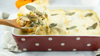Butternut Squash and Chard Vegan Lasagna