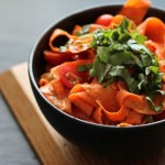 Carrot Pappardelle with a Middle Eastern Flare