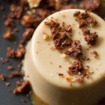 Coconut Caramel Panna Cotta with Chocolate Cookie Crumbs