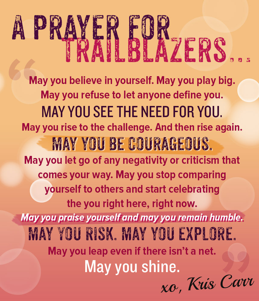 A Prayer for Trailblazers
