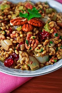 Pecan Cherry Bulgur Stuffing