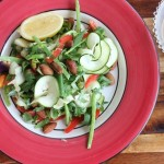 Zoodle Super Salad with Zingy Coconut Dressing