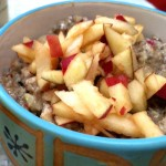 Easy Raw Apple Chia Breakfast Porridge